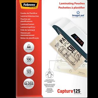 Плівки для ламінування глянсові 125 мкм, 216x303 мм - A4, 100 шт. f.53074