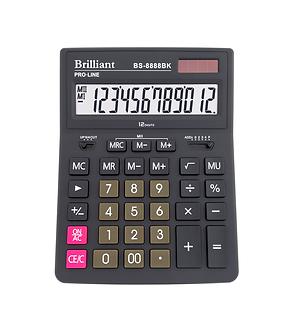Калькулятор Brilliant BS-8888BK, 12 розрядів  BS-8888BK