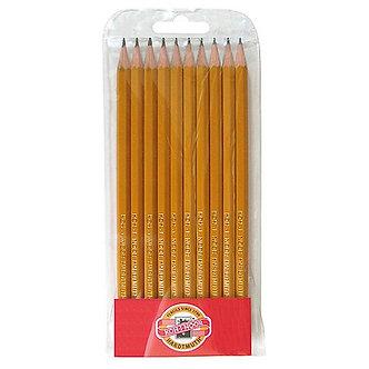 Набір з 10-ти технічних чорнографітних олівців  kh.1570.10