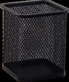 Підставка для ручок квадратна BUROMAX, металева, колір асорті BM6201