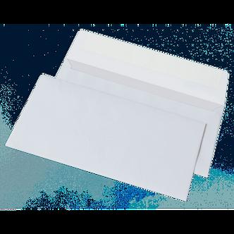 Конверт DL (110х220мм) білий СКЛ, термоупак. 50 шт 2052-50