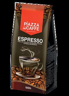 "Кава в зернах Piazza del Caffe ""Espresso"", сер.обсмаж., 1кг  jr.1099021"