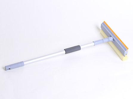 Швабра для миття вікон, губка 25см, алюмінієва ручка телескоп, 60-98см EF-2515