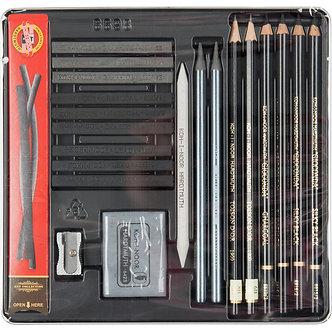 Набір художній Gioconda 8898, 23 предмети, мет.уп.