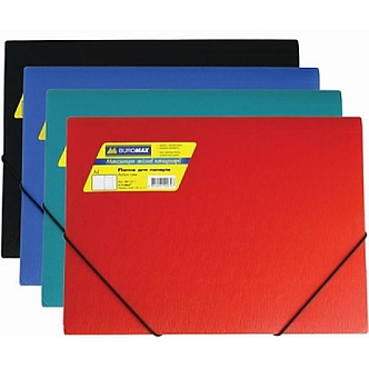 Папка пластикова BUROMAX, А4 на гумках, BM.3913