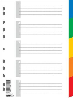 Цифровий індекс - розділювач А4, 1-5, кольоровий, з аркушом опису 7704095