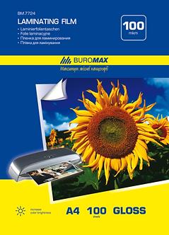 Плівка для ламінування глянсова 100 мкм, A4 (216x303мм), 100 шт. BM.7724