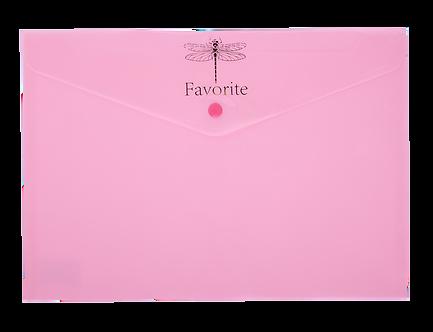 Папка-конверт на кнопці FAVOURITE, PASTEL, А4,  BM.3953