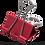 Thumbnail: Бiндер (зажим для паперу) 25 мм, ціна за 12шт., туба, КОЛІР АСОРТІ