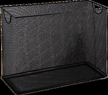 Короб для підвесних файлів, металевий, чорний
