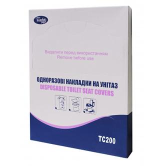 Гігієнічні накладки на унітаз, 200 шт., паперові, білі TISCHA PAPIER TC200