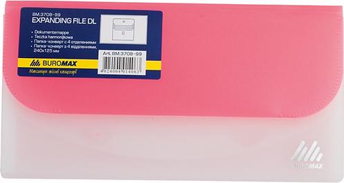 Папка-конверт DL на липучці TRAVEL, 4 віддділення BM3708