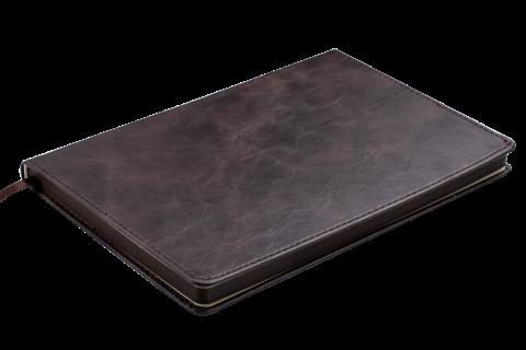 Блокнот діловий BELLAGIO LOGO2U А5, 96арк., клі, обкладинка зі шт. шкір. BM.2952