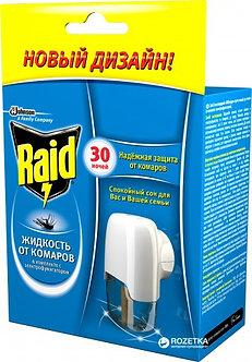 Електрофумігатор від комарів Raid 30 ночей в комплекті з рідиною   efk30