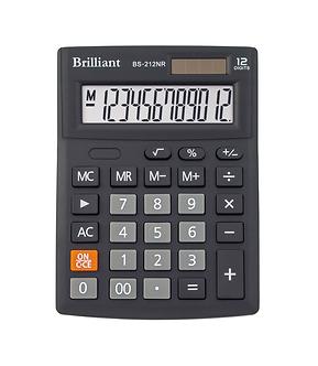 Калькулятор Brilliant BS-212NR, 12 розрядів