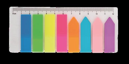Закладки пластикові NEON 45x12мм+42x12мм, 8х25 арк BM.2307-98