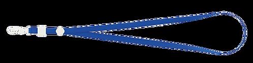 Шнурок з карабіном, синій, сірий, чорний BM.5425