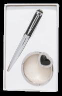 """Набір подарунковий """"Crystal"""": ручка кулькова + гачок д/ сумки, LS.122028"""