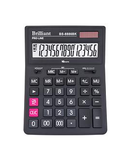 Калькулятор BS-8886BK 16р., 2-живл.  BS-8886BK