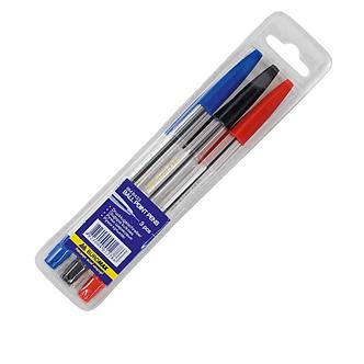 """Набір із 3-х кулькових ручок JOBMAX, тип """"Корвіна"""", 3 кольори"""