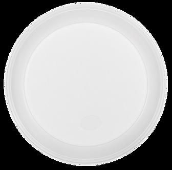 Тарілка одноразова, d-205 мм, біла, 1-секція, 5.5-6 г, 100 шт