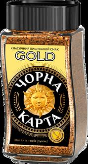 Кава розчинна Чорна карта Gold, ск.б. 190г ck.51156