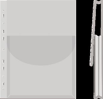 Файл для каталогів А4 глянсовий з клапаном, 170 мік,  1775001PL-00