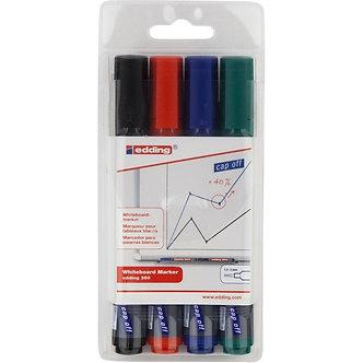 Набір маркерів Board e-360, для сухостираємих дошках E-360/4/BL