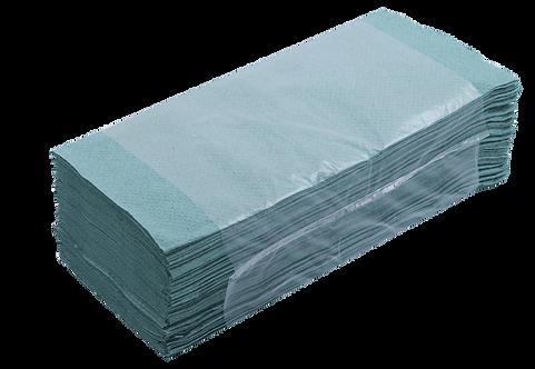 Рушники паперові макулатурні V-подібні, 160 шт, зелені