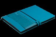 Блокнот діловий TRAVEL LOGO2U А5, 96арк., клітинка, обк зі шту чної шк BM.295211