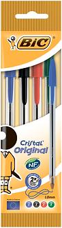 """Ручка """"Крістал"""" асорті, 4 шт в блістері  bc8308621"""