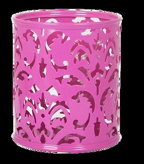 """Підставка для ручок """"BAROCCO"""" BUROMAX, металева, рожевий, фіолет BM6204"""