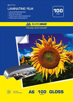 Плівка для ламінування глянсова 100 мкм, A6 (111x154мм), 100 шт. BM.7774