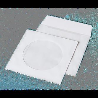 Конверт для CD (124х124мм) білий НК з вікном, термоуп. 50 шт 6108_50