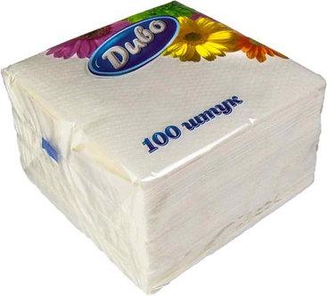 Серветки паперові, 240 * 240, 100шт., Білий