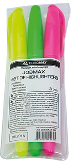 Комплект: 3 текст-маркера, JOBMAX, круглих  BM.8903-93