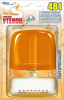 """Підвісний блок для унітазу """"Туалетне Каченя"""", цитрусовий бриз, 55 мл"""