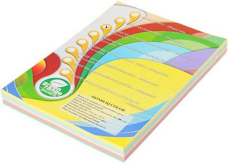 Набір кол. паперу пастель, А4, (5кол. по 50л, 250л) A4.80.IQ.RB01.250