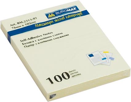 Блок паперу для нотаток 76 x 102мм, 100 аркушів