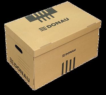 Короб для архівних боксів з накидною кришкою, DONAU, крафт  7666301PL-02