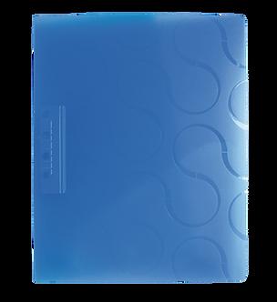 Папка з боковим притиском та кишенею OMEGA A4, PP, асорті 0410-0040-99
