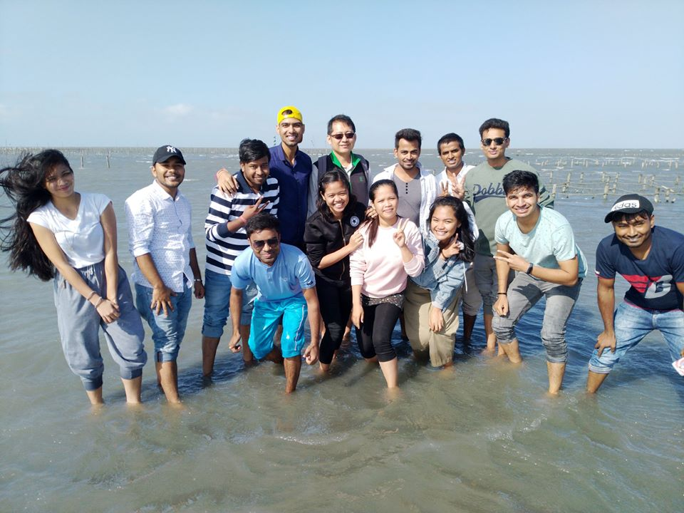 Enjoying Sea Beach
