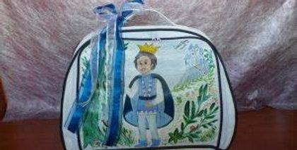 Τσάντα βάπτισης ζωγραφισμένη στο χέρι