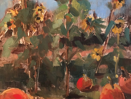 Sunflowers, Pumpkins & Memory