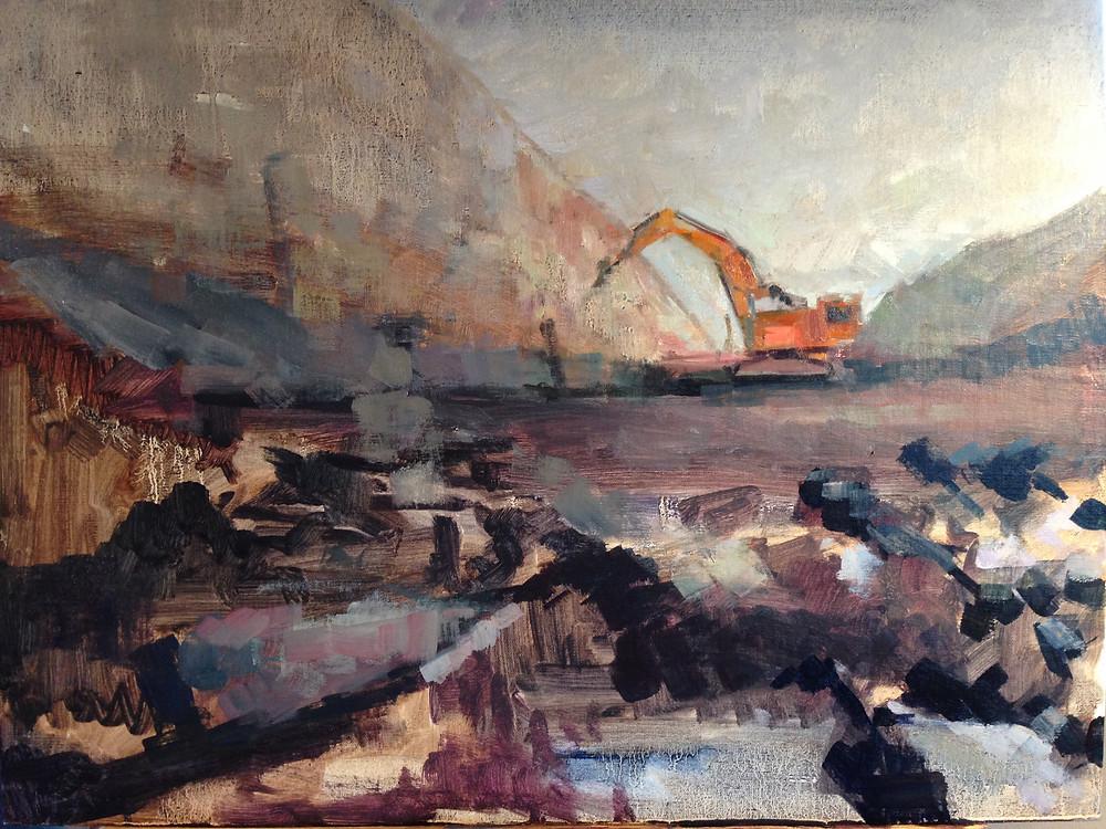 Coal Mine 16 x 20
