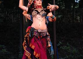 A belly dancer