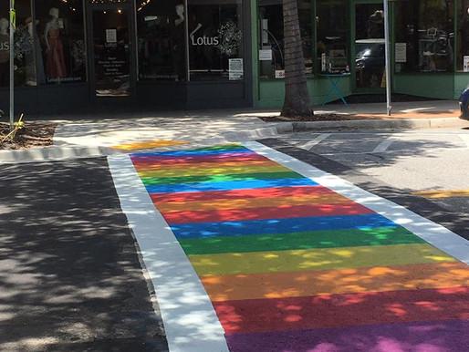 Rainbow Crosswalk on Main Street