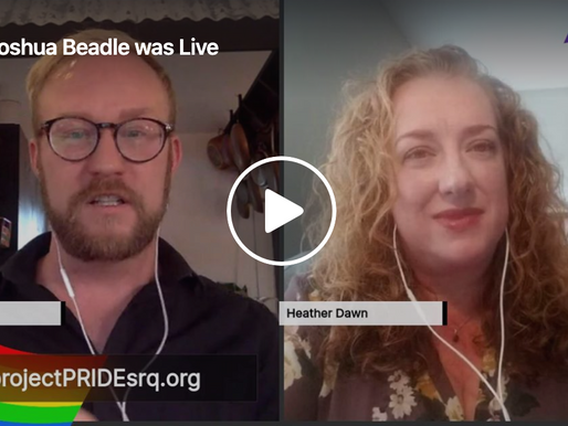 Live Interview with Heather Eslien LGBTQ Mental Health Professional