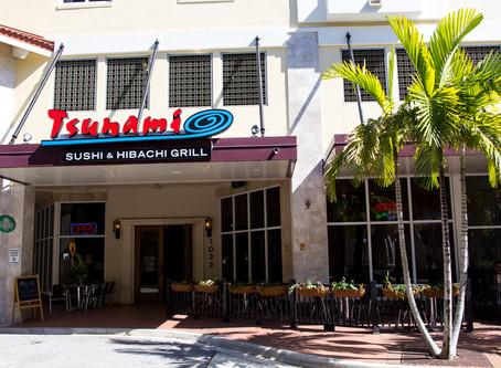 FREE LARGE HOT SAKE   Tsunami Sushi