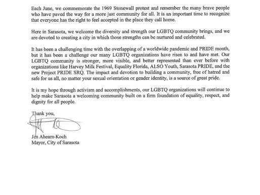 Happy PRIDE Month from Mayor Jen Ahearn-Koch